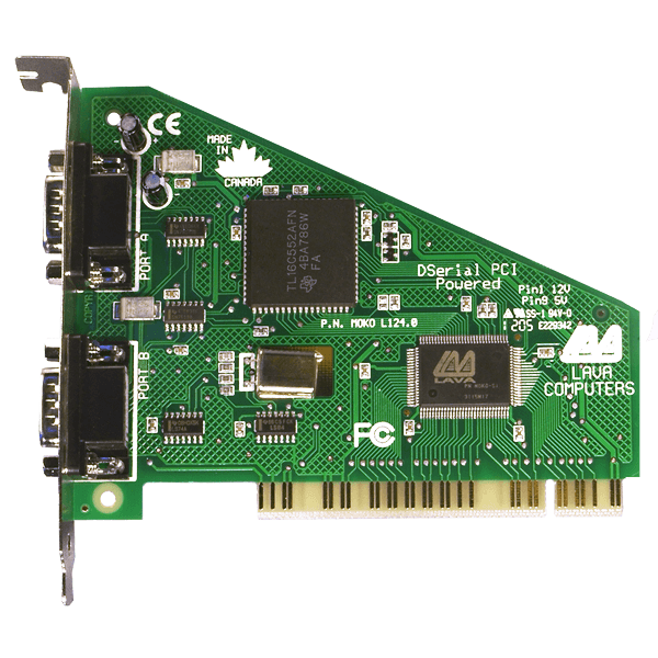 LAVA PCI 2 port RS-232 Powered
